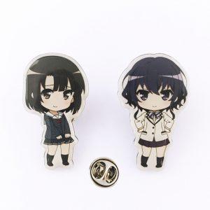 Saekano: How to Raise a Boring Girlfriend – Poly Dome Cover Badge Set (2 Pieces) B_2