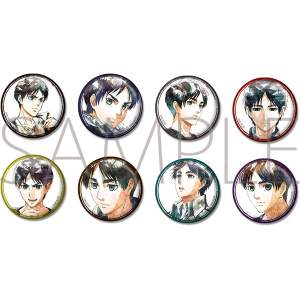 Attack on Titan Art-Pic Character Badge Collection – Eren