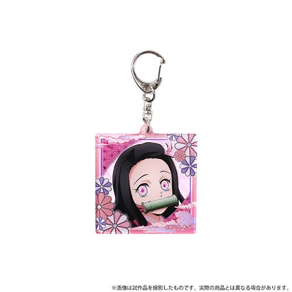 Kimetsu-no-Yaiba-Acrylic-Key-Holder-Nezuko