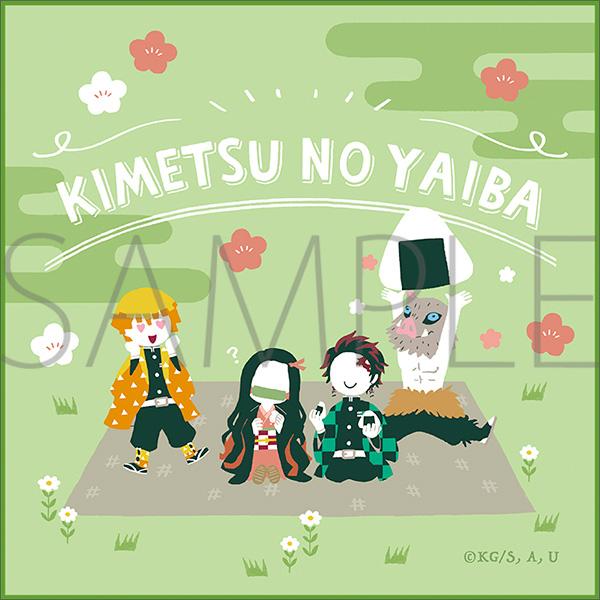 Kimetsu no Yaiba Yurupalette Hand Towel A