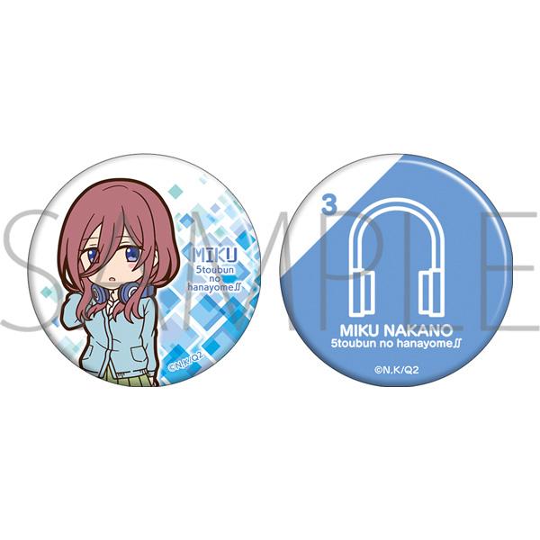 The Quintessential Quintuplets S2 Can Badge Miku
