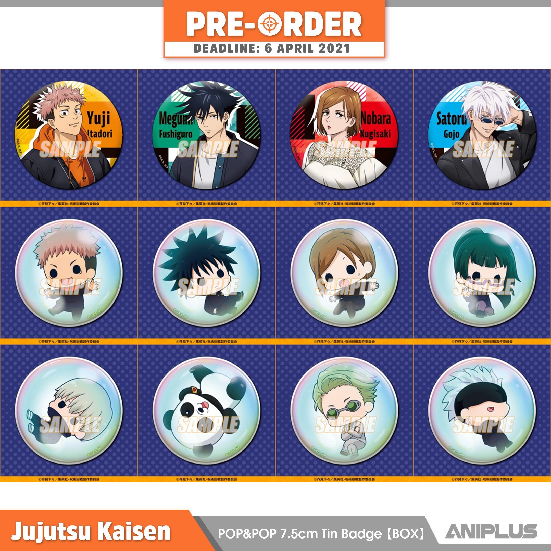 Jujutsu Kaisen POP&POP 7.5cm Tin Badge Box