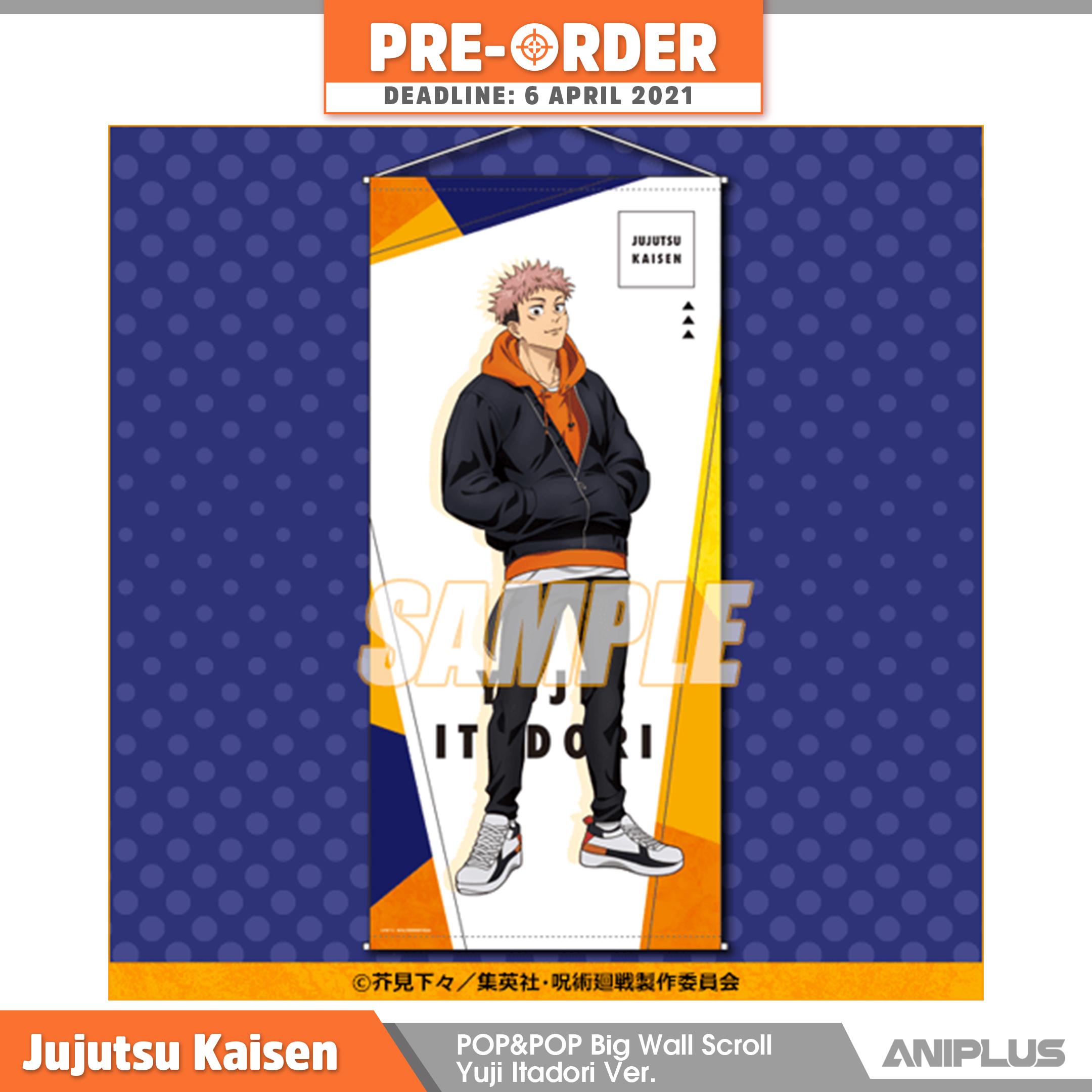 Jujutsu Kaisen POP&POP Big Wall Scroll Yuji Itadori Ver..png